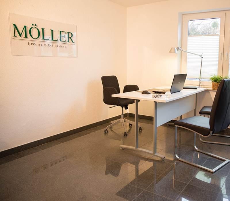 Blick ins Büro von Möller Immobilien